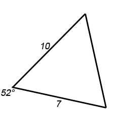 GCSE Mathematics Revision - Area of a Triangle using Sine Example